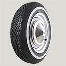 Blockley Radial 125SR12 White Wall - Fiat 500